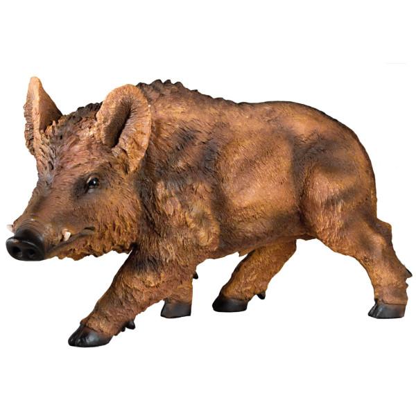 Wildschwein Dekofigur aus Polyresin - ca. 54 x 30 cm