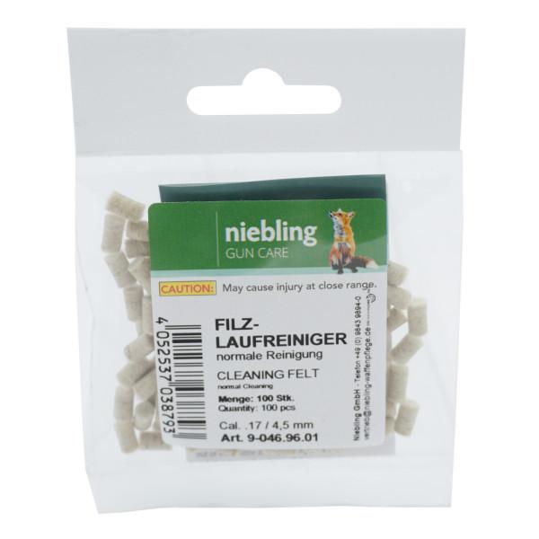 Niebling Laufreiniger Normal Kal. .17 / 4,4 mm - 100 Stück