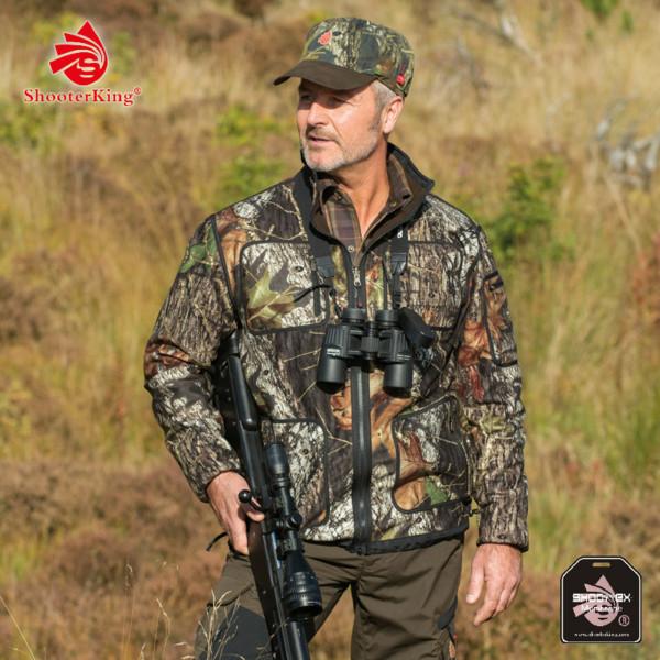 SHOOTERKING Softshell Jacke für Herren mit Mossy Oak Camouflage Muster