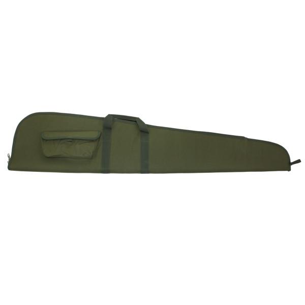 Büchsenfutteral 125cm aus Nylon mit Seitentasche - grün