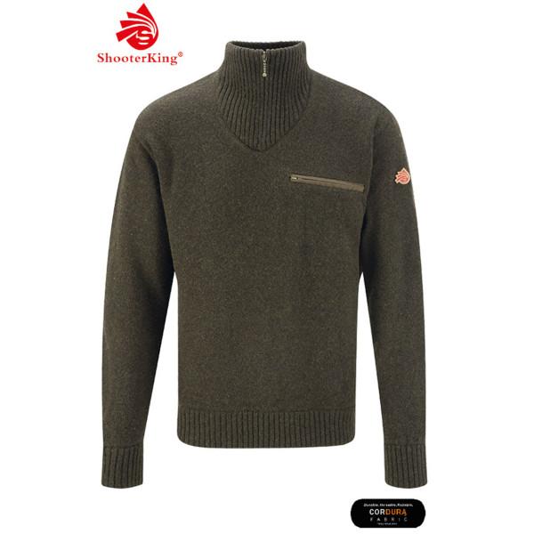 SHOOTERKING Troyer Pullover aus Wolle für Herren in grün