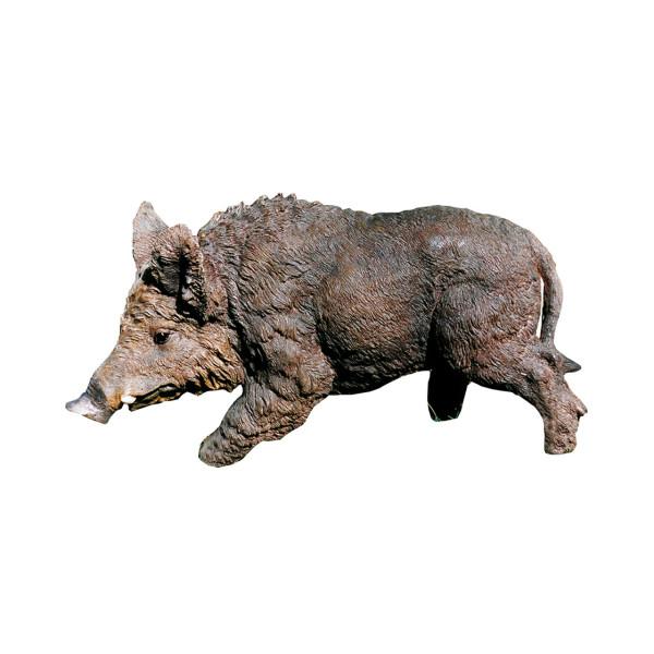 Deko Figur Wildschwein aus Kunststein - 54 x 30 cm