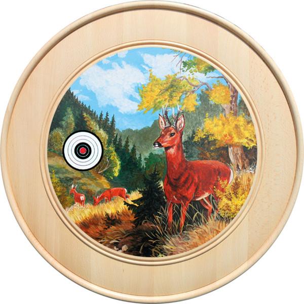 Ehrenscheibe aus Buchenholz mit verschiedenen Motiven - 50 cm