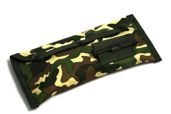 Waffenreinigungsset Kal. .22 / 5,56 mm & 9 mm in der Camouflage-Tasche