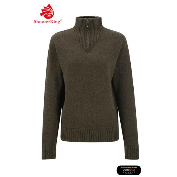 SHOOTERKING Troyer Pullover aus Wolle für Damen in grün
