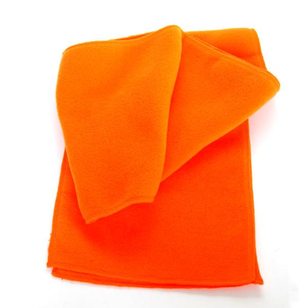 Fleece-Schal aus Polyester in signalrot