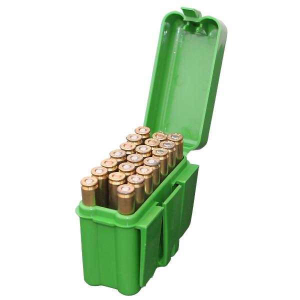 MTM Patronenbox mit Klappdeckel RM-20-10 grün