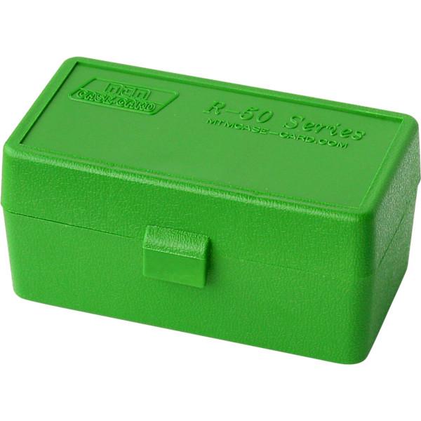 MTM Patronenbox mit Klappdeckel 22 Horn-10 grün