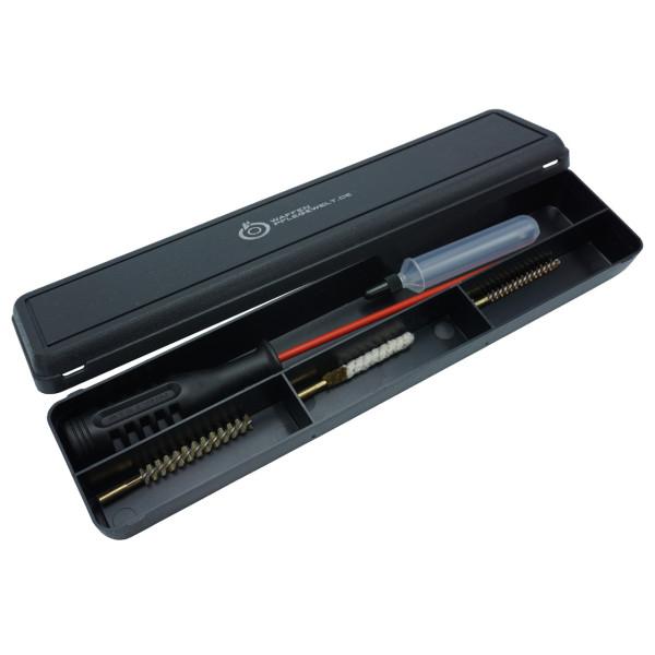 Waffenreinigungsset Kal. 4,5 mm für Luftpistolen in der Kunststoffbox mit Öltube