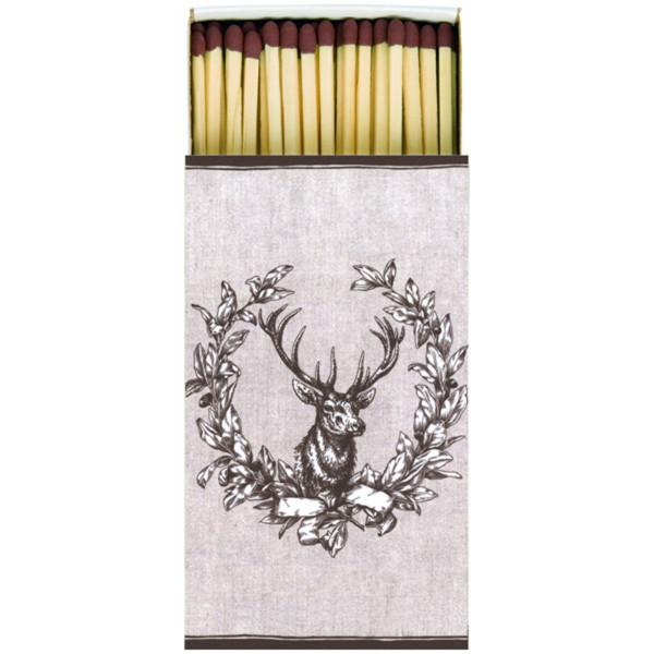 Streichholzschachtel mit Hirsch Motiv - 45 Streichhölzer