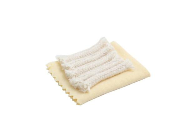 5 Reinigungsdochte + Tuch für Kaliber 4,5 mm