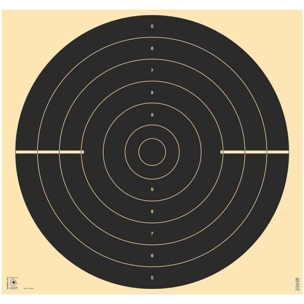 Pistolen-Scheibe Schnellfeuer Duellscheibe 55x55 cm für 25 m