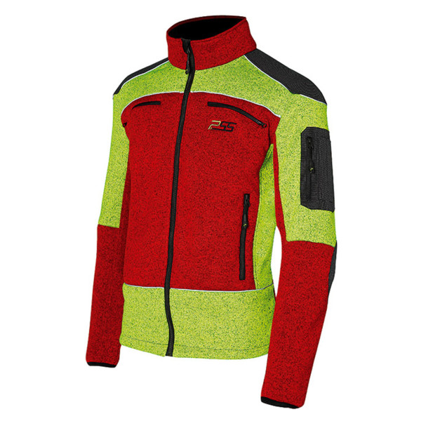 PSS X-TREME Arctic Faserstrickjacke in rot/gelb