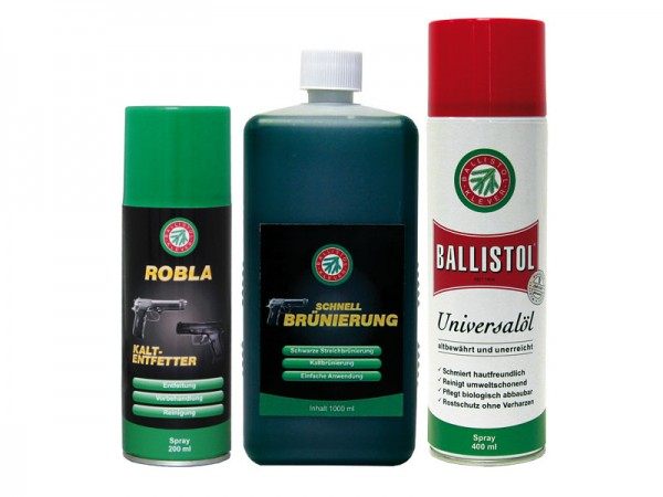 Ballistol Klever Brünierset - groß