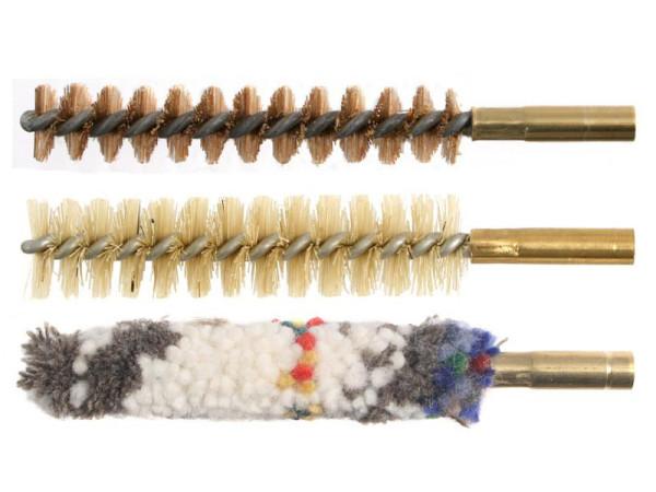 """3er-Bürstenset Kaliber 9 mm mit 1/8""""-Innengewinde"""