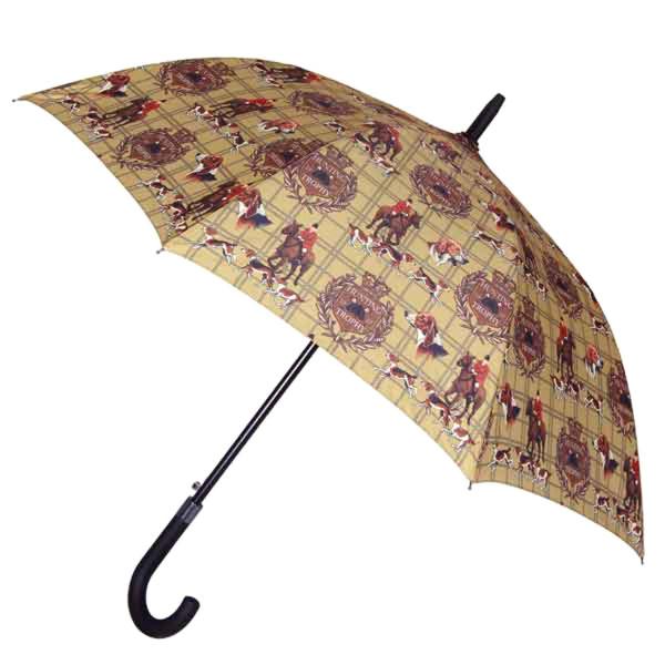 Stabiler Regenschirm aus Fiberglas und Aluminium - Motiv Hunting