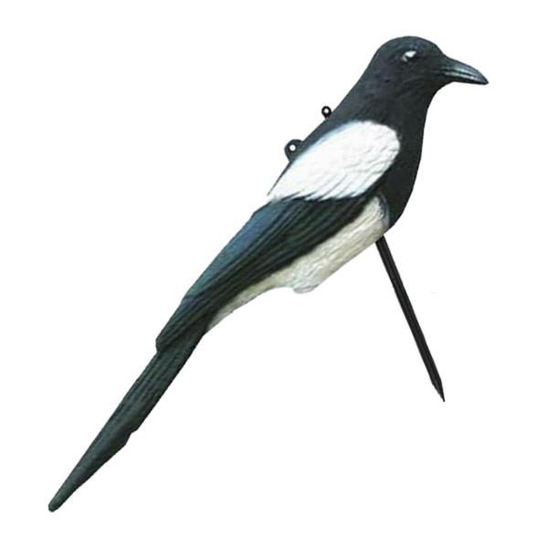 Lockvogel Elster aus Kunststoff