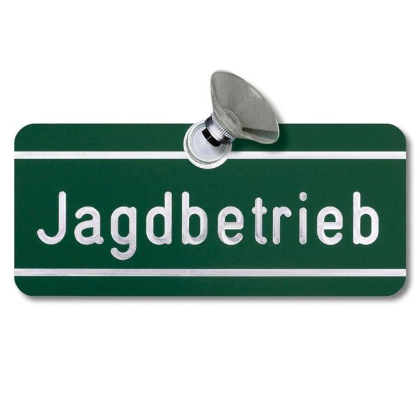 """Autoschild """"Jagdbetrieb"""" blanko"""