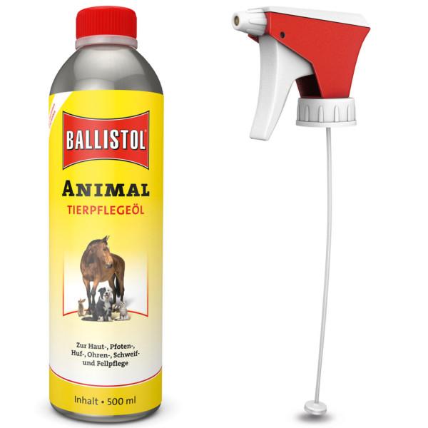 Ballistol Animal Tierpflegeöl 500 ml + Gratis Pumpsprühkopf - Set Artikel