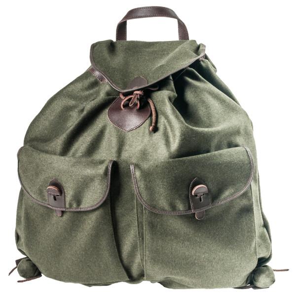 Loden Rucksack lautlos ohne Metall mit zwei Außentaschen